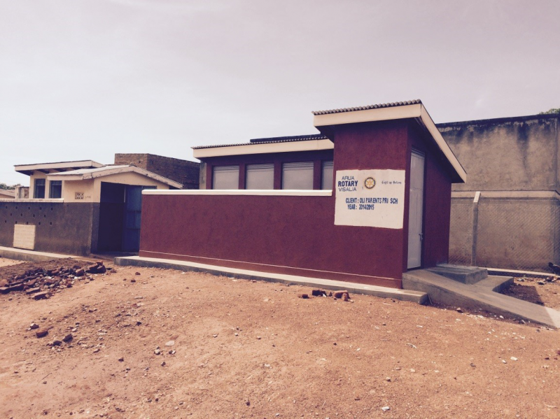 VIP Latrine built at the Oli Parents Primary School